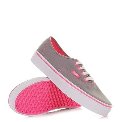 d9f9adb2029c Womens Vans Authentic Neon Pop Frost Grey Pink SIZE 5: Amazon.co.uk ...