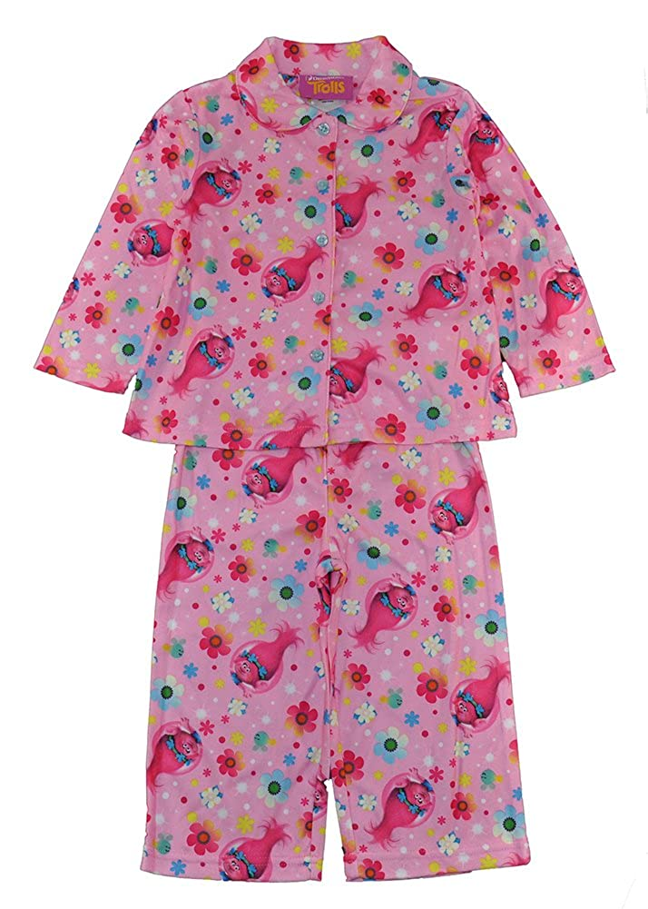 Trolls Little Girls Pink Pajama Shirt 2pc Pajama Pant Set