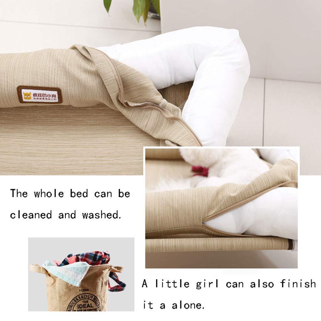 ... y Medio Perro sofá Nido extraíble y Lavable Peluche del Gato Cuatro Estaciones Universal de la litera Nido Fresca del Perro casero Estera de la Cama: ...
