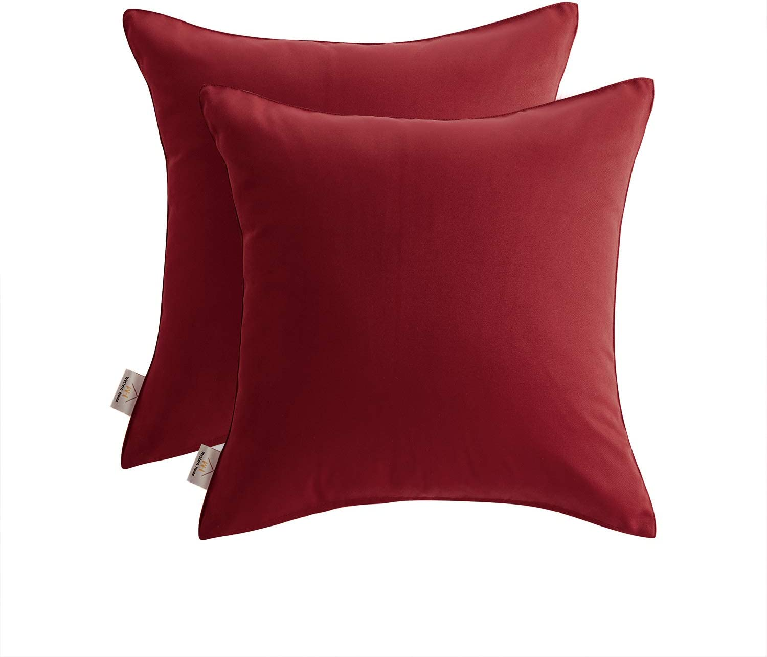Joyaco Pack of 2 Decorative Outdoor Pillows Waterproof Throw Pillow Covers Square Pillowcases Cushion Covers Shell for Couch Patio Garden Tent Park Spring Summer Decor 20 x 20 Inch Red