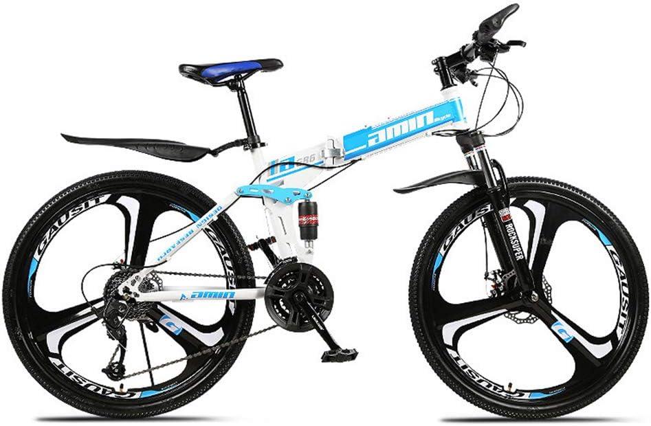 H-LML Bicicleta de montaña Plegable de 26 Pulgadas de Velocidad de ...