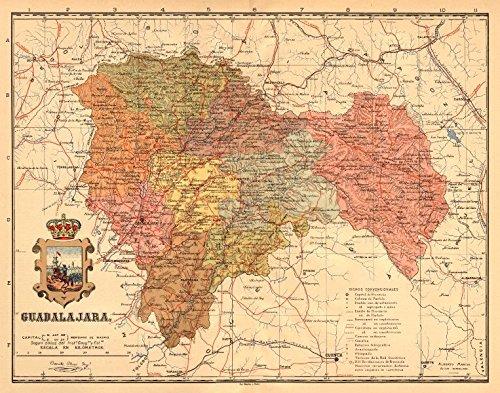 guadalajara-castilla-la-mancha-mapa-antiguo-de-la-provincia-martin-c1911-old-map-antique-map-vintage