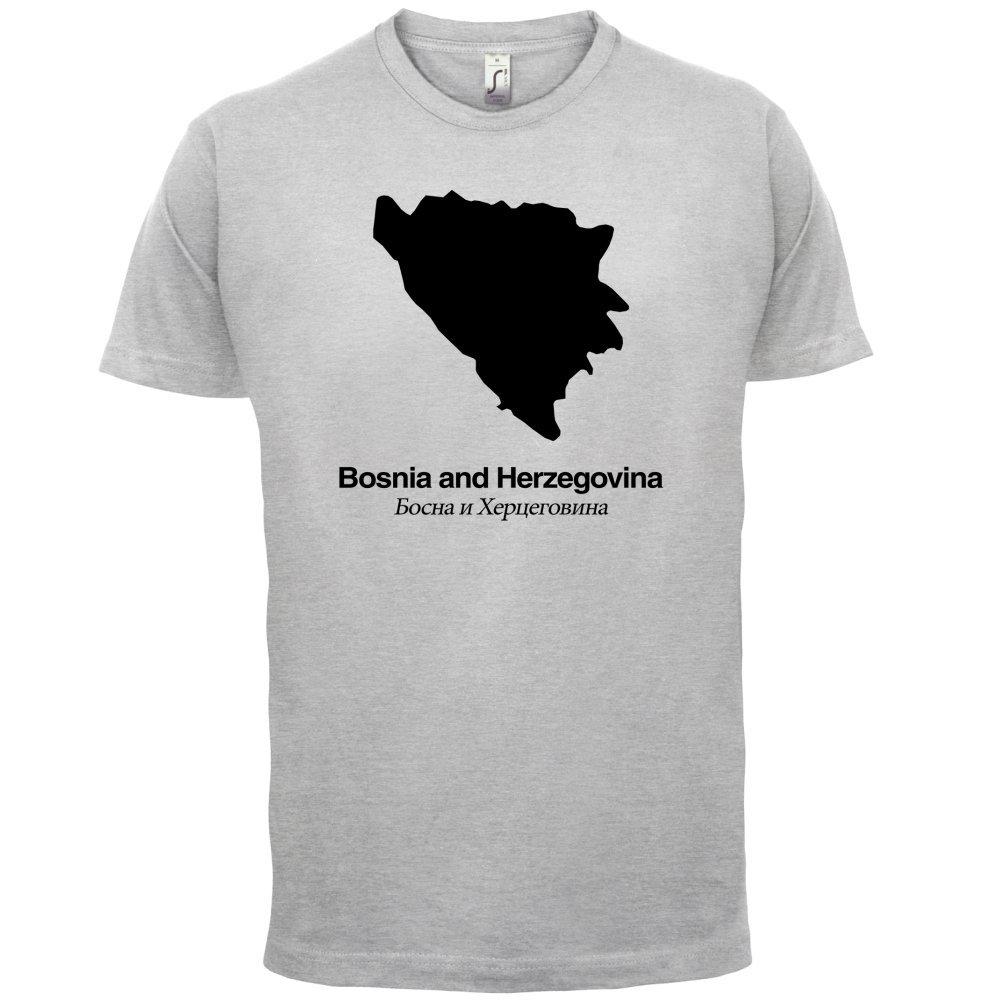 Bosnia and Herzegovina / Bosnien und Herzegowina Silhouette - Herren T-Shirt  - 13 Farben: Amazon.de: Bekleidung