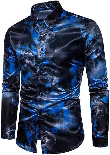 Poachers Camisas de Hombre Manga Larga Camisas Hawaianas ...