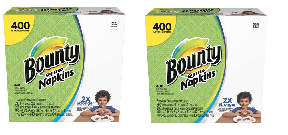 Paper Napkins, White or Printed, 200 Count (800 Napkins)