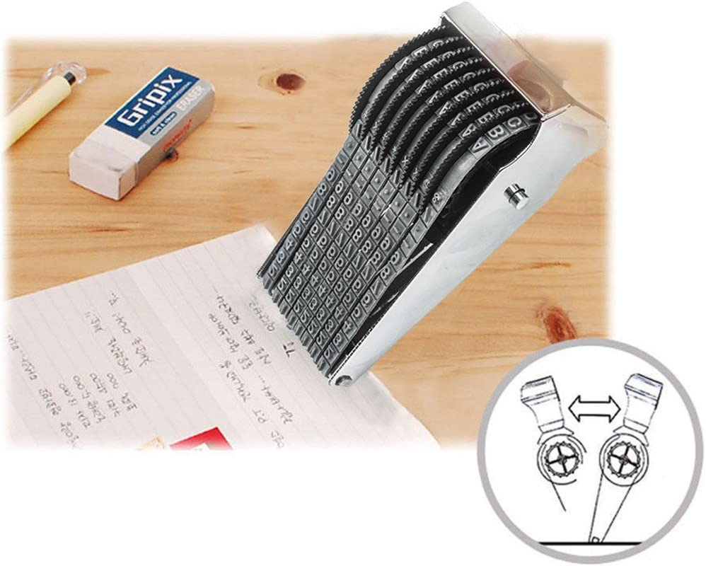 Digit Rolling Stempel Personalisierte Englisch Alphabet Nummer Symbol Scrapbooking DIY Gummi Stationery B/üro Tisch Decor 14-Bit Rolling Stamp