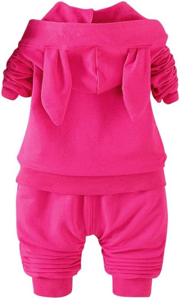 Hosen Winter Kleidung 6M-3Jahre Blaward 2 ST/ÜCKE Baby M/ädchen Outfits Niedlichen Kaninchen Langarmshirts