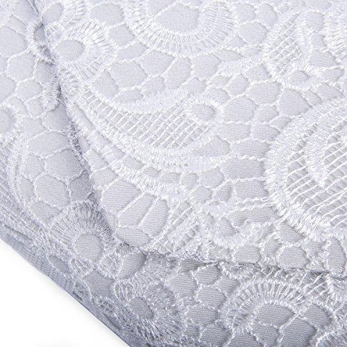 Clutch Para Bolsa Noche Envelope Kisschic Bolso Blanco Elegante De Mujer q5c8atW