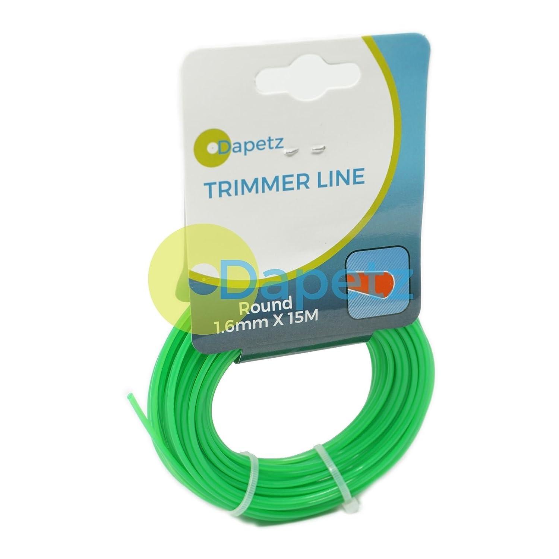 Daptez ® Nylon Strimmer Line, Cord 1.6mm x 15 M Metres Fits Flymo & Bosch Trimmer Trim Dapetz