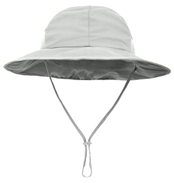 9896720f SimpliKids Baby Boy Sun Hat UPF 50+ Sun Protection Wide Brim Beach Hat Grey