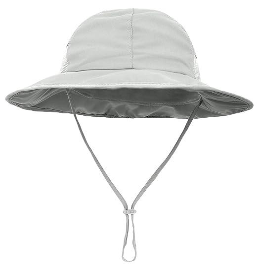 SimpliKids Baby Boy Sun Hat UPF 50+ Sun Protection Wide Brim Beach Hat Grey 4a920ea19caa