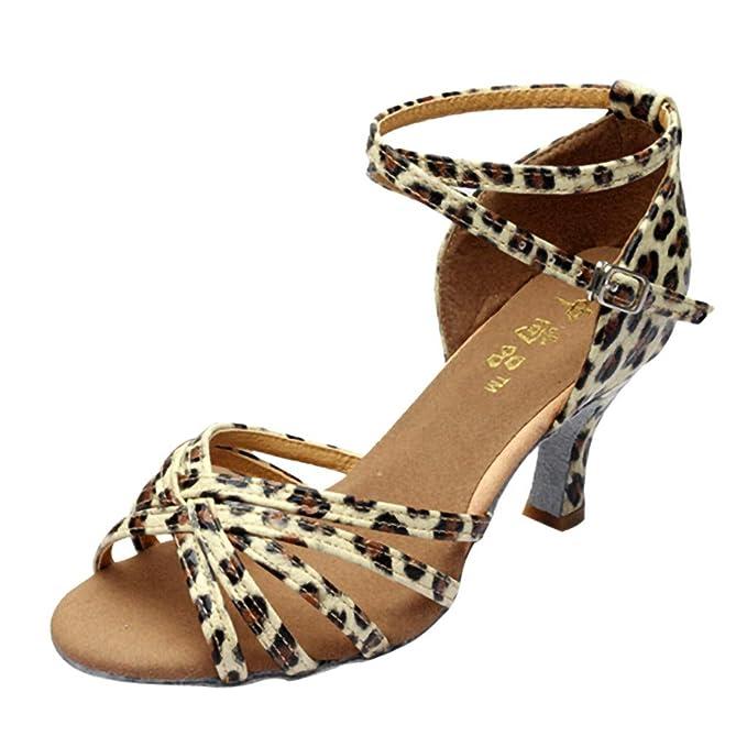 fc95f11be288b Pandaie Womens ... Sandals Women Fashion Dancing Rumba Waltz Prom ...
