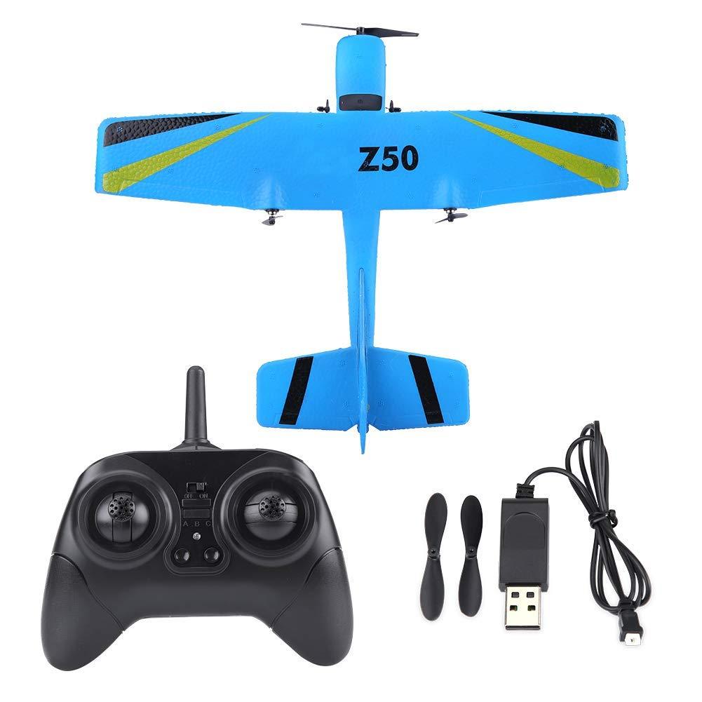 JAYE Giocattolo dell'aeroplano del Telecomando, Aereo di Controllo a Distanza 2.4G Aliante del Modello di Aereo di Telecomando di Ala Fissa di EPP Toy,blu