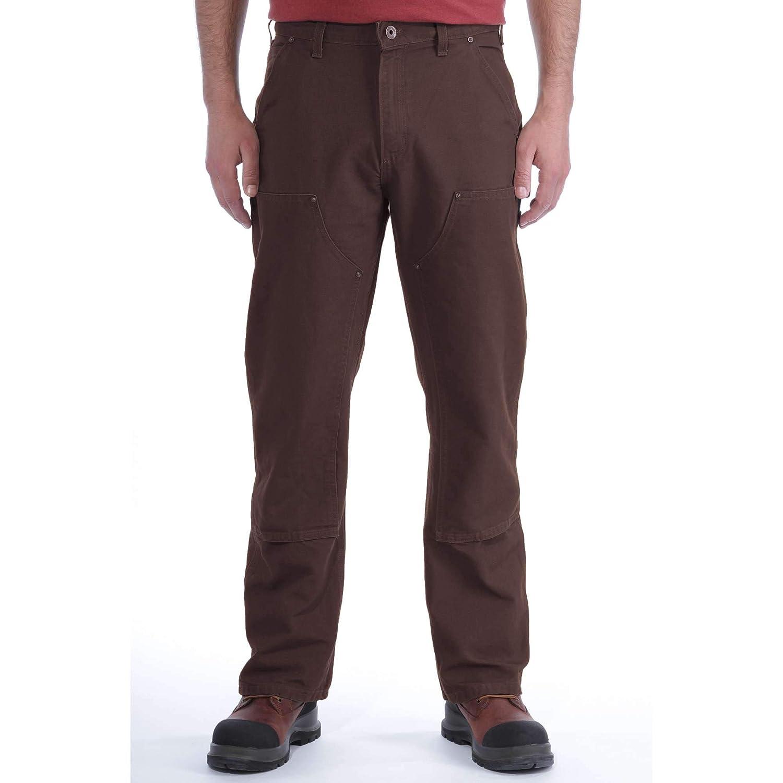 Carhartt EB136 Double Front Entrenamiento Pantalones Vaqueros Slim B01 Pantalones para Hombre - Moos grün