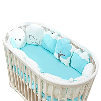 Amazon.com: Almohadillas para parachoques de cuna para bebé ...
