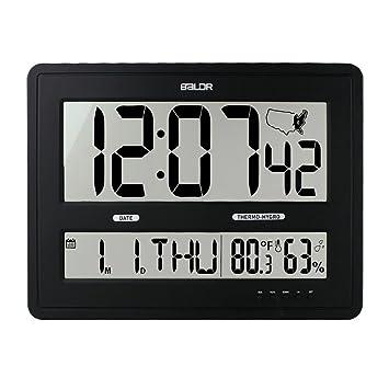 Pantalla LCD Hora Pantalla Fecha Calendario Temperatura interior Mesa de escritorio rectangular Reloj despertador digital Reloj
