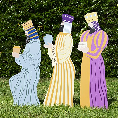(Outdoor Nativity Store Outdoor Nativity Set Add-on - Three Wisemen (Standard, Color) )