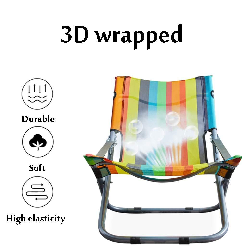 Strandstol nät strandstol, fåtöljer bärbar hopfällbar stol justerbar 6 färger (färg: A-4) A-3