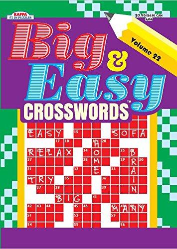 Big   Easy Crosswords Puzzle Book   Volume 22