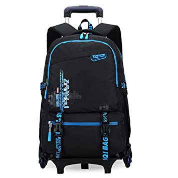 Amazon.com: HIGOGOGO Rolling Bag with Wheels Waterproof Removable ...