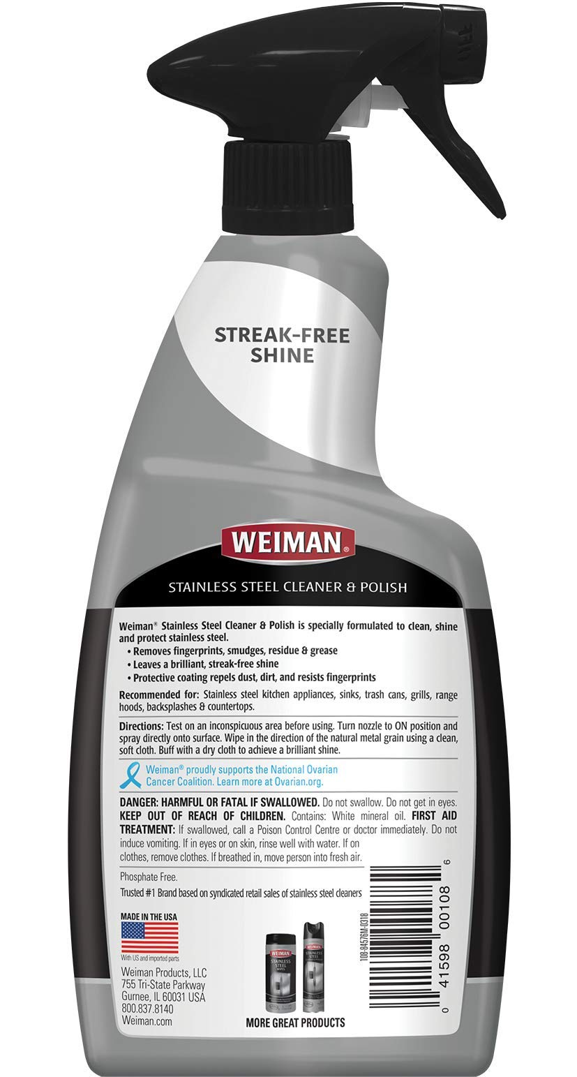 Weiman Stainless Steel Cleaner & Polish 22 fl oz - 6 pack by Weiman (Image #2)