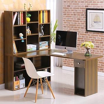 ZLL Escritorio para Computadora, Mesa para Computadora en Esquina ...
