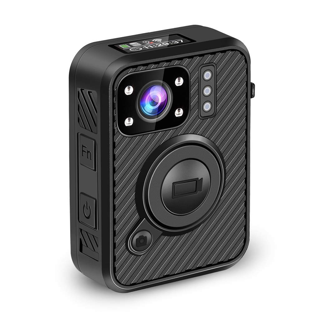 BOBLOV 2K 1440P Body Mounted Camera Body Worn Cam 10H Recording with WiFi(Support Android Only) GPS 1inch LCD Screen (64G with WiFi GPS) (64G) by BOBLOV