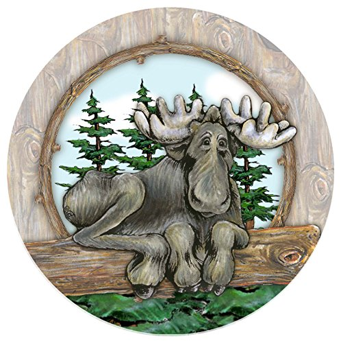 Moose Stoneware - Thirstystone Stoneware Coaster Set, Big Sky Moose