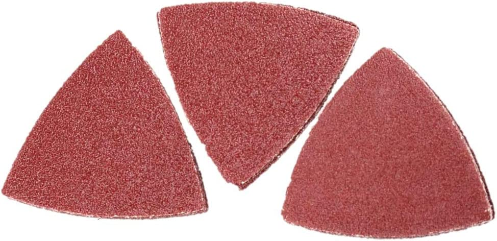 80mm 10-Pack, 6pc - 80 grit, 2pc - 60 grit, 2pc - 120 grit Ryobi//Ridgid Assorted Grit Multi Tool Sandpaper for Metal and Wood 3-1//8 Inch Bulk Packaged