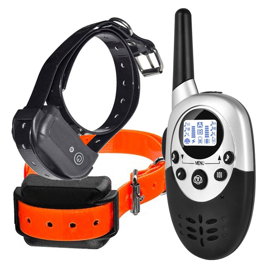 Dog Training Collar Remote Controller Waterproof Rechargeable 1000Yards LCD Trainer for Pet Electric Shock for 2 Dogs