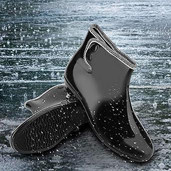 Duokon Wellies Femme Bottes De Pluie Bottines Imperm/éables Antid/érapantes Confortables Jardin De Travail Chaussures