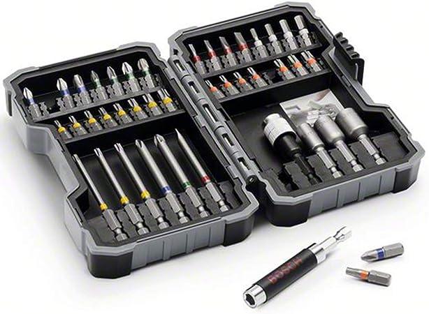 Bosch - Set de 43 unidades para atornillar y llaves de vaso (Ph,Pz ...