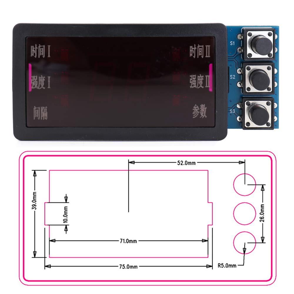 M/áquina de soldadura por puntos Panel de control,soldador por puntos 220V//110V Doble impulso Conveniente