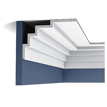Cornisa Orac Decor C393 MODERN STEPS Moldura para decoración de pared y techo moderno blanco 2m: Amazon.es: Bricolaje y herramientas