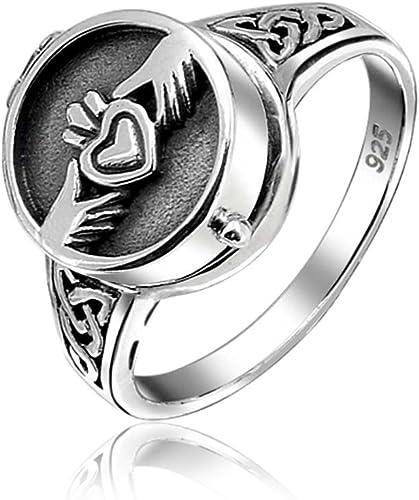 Heart Irish Claddagh Celtic Design 316L Stainless Steel Ring Sizes 5-10 BIKER!