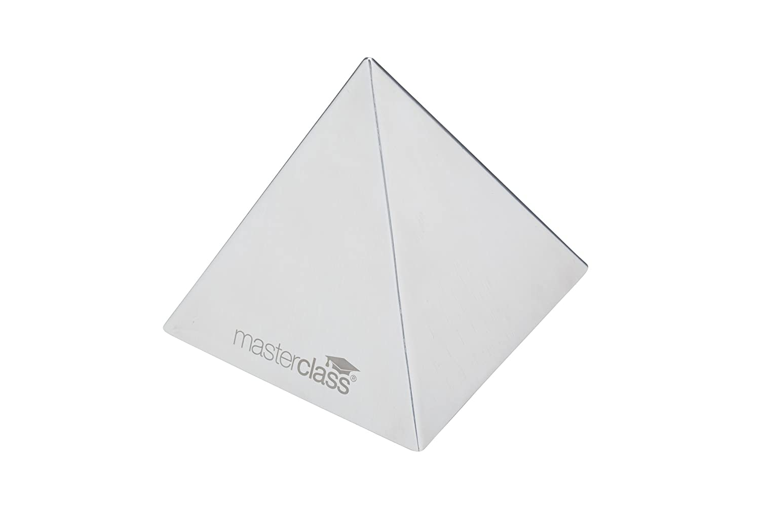 KitchenCraft MasterClass Stainless Steel Pyramid Food Mould/Rice Shaper, Metallic, 8.5 cm MCPYRAMID