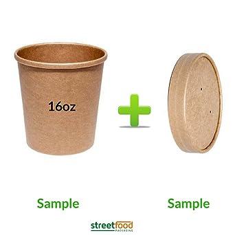 Recipiente para sopa con tapas de ventilación de color marrón, de ...
