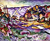 Braque: L'Estaque 1906. /Noil On Canvas By Georges Braque. is a licensed reproduction that was printed on Premium Heavy Stock Paper which captures all of the vivid colors and details of the original. The overall paper size is 18.00 x 24.00 inches. Th...