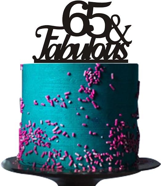 Marvelous Amazon Com 65 Fabulous Cake Topper For 65Th Birthday Party Funny Birthday Cards Online Inifodamsfinfo