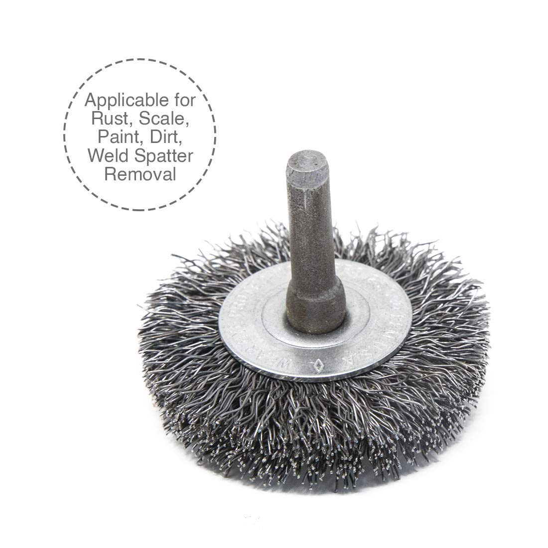 Light Duty 13000 RPM Maximum Rotational Speed Osborn International 16436SP Crimped Stainless Steel Wire Cup Brush with 1//4 Shank 1-3//4 Diameter