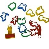 Conjunto De Coloridas Moldes Cookie Cutter Plastilina Moldea Herramienta Con Diversas Formas Plantas Animales