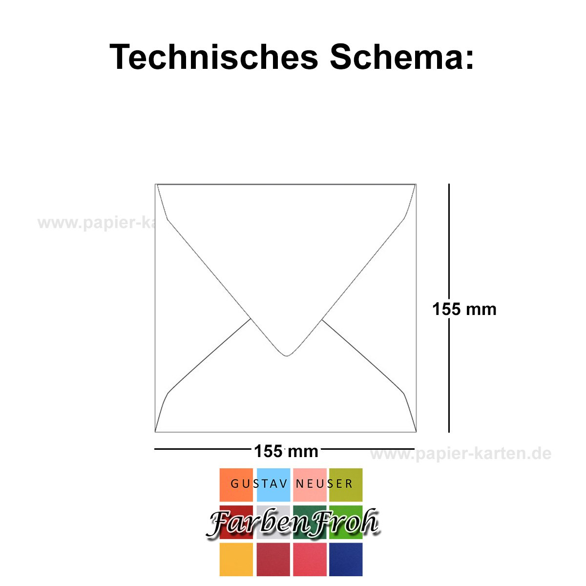 Quadratische Quadratische Quadratische Brief-Umschläge - Farbe Hochweiss   150 Stück   155 x 155 mm   Nassklebung   Für Einladungen & Hochzeit    Serie FarbenFroh® B07D2GJYR8 | Sonderpreis  0727a2
