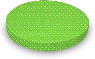 product image for SheetWorld Fitted Oval Crib Sheet (Stokke Sleepi) - Primary Pindots Green Woven - Made In USA