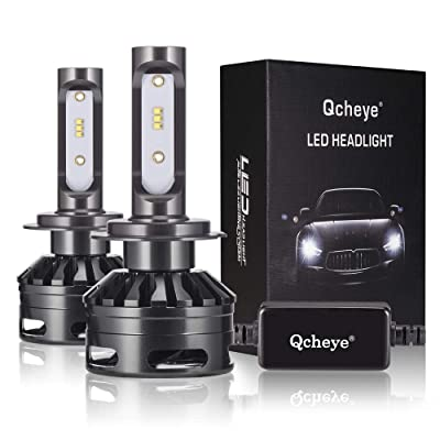 H7 LED Headlight Bulbs - 13000Lm 6000K Cool White,H7 All-in-One Conversion Kit,360°Adjustable Beam: Automotive