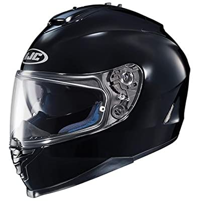 HJC IS-17 Full-Face Motorcycle Helmet (Black, X-Small): Automotive