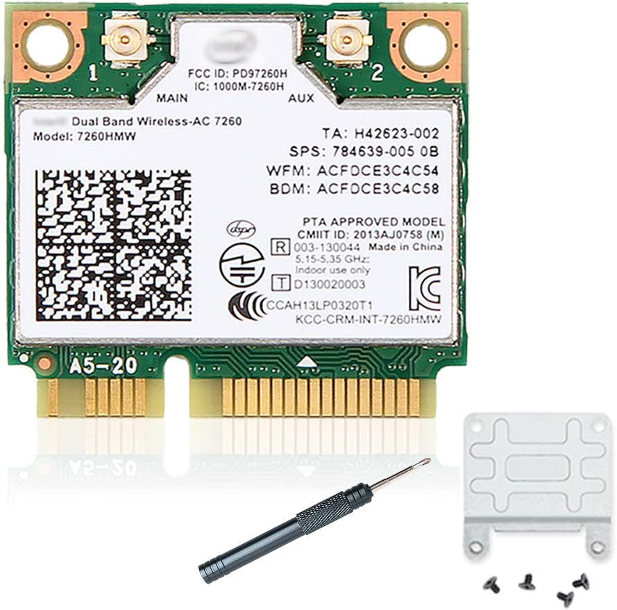 7260HMW 7260ac Wireless LAN Wi-Fi 802.11ac Half Mini PCI-E Card