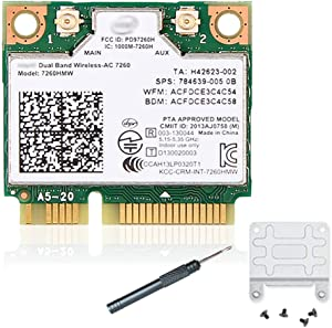 7260HMW 7260ac Wireless LAN Wi-Fi 802.11ac Half Mini PCI-E Card
