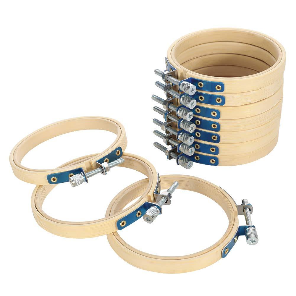 hacer ganchillo Lovingmona Juego de 10 aros de punto de cruz de bamb/ú redondos de 8 cm para bordar