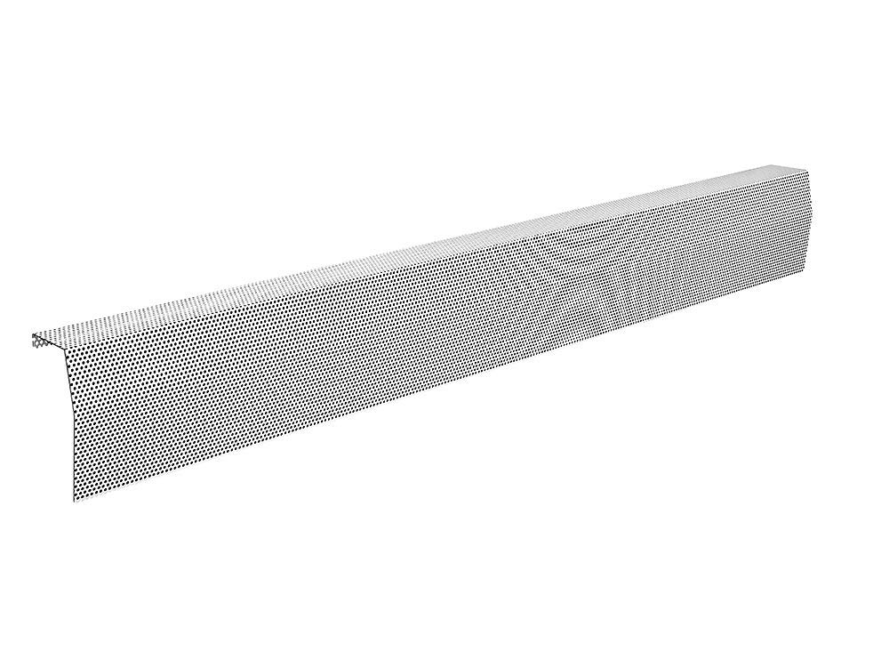 Premium Series Galvanized Steel Easy Slip-On Baseboard Heater Cover in White (6 ft, Cover, No Accessory)