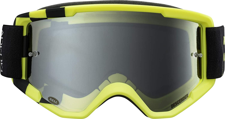 Bell Descender MTB Goggles (Podium Matte Hi-Viz/Black (2020), Silver Mirror)